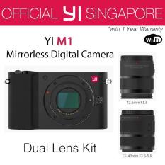 YI M1 Mirrorless Digital Camera with 12-40mm F3.5-5.6 Lens / 42.5mm F1.8 Lens Storm Black (International Edition)