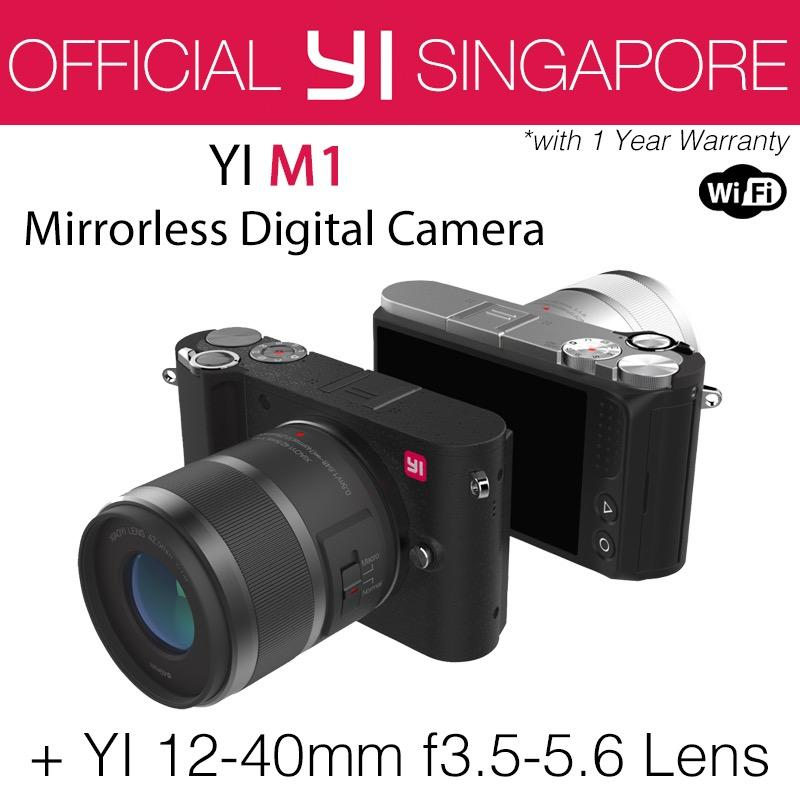 YI M1 Mirrorless Digital Camera with 12-40mm F3.5-5.6 Lens Storm Black (International Edition)