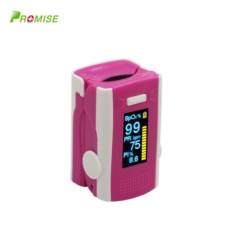(PRO-M110 rose red )PR+MISE finger pulse oximeter OLED ABS metrial heart rate monitor LLT Store
