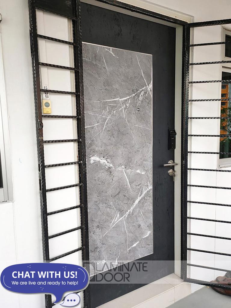 HDB Single Leaf Fire Rated Main Door - Custom Design