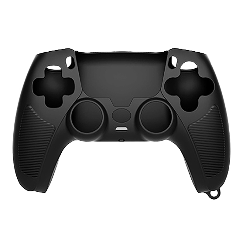 Handle Sleeve Silicone Case Dustproof Skin Anti-Slip Protective Cover for Sony PlayStation PS5 Controller Black thumbnail