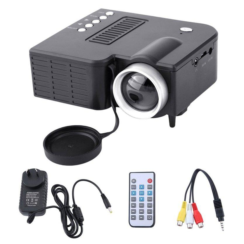 Here adhere UC28A Mini Portable LED Projector 1080P Multimedia Home Cinema Theater