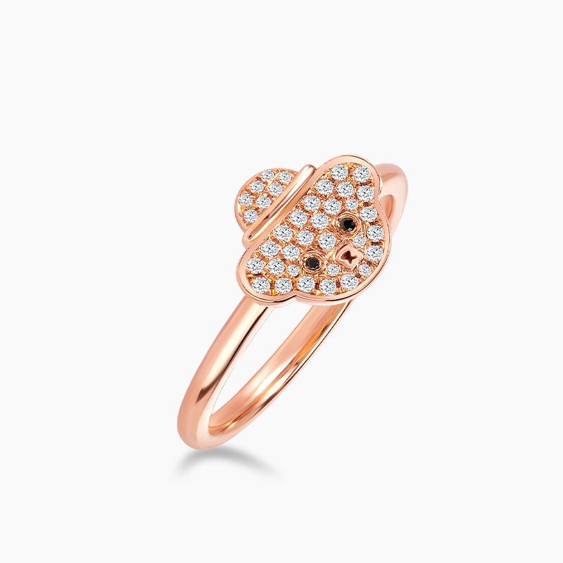 Love and Co Teddy Bear Diamond Ring