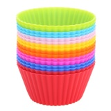 16pcs Round Shaped Silicone Cupcake Mould - intl