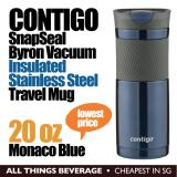 Contigo SNAPSEAL Byron Travel Mug 20oz Monaco Blue Stainless Steel Insulated Cup