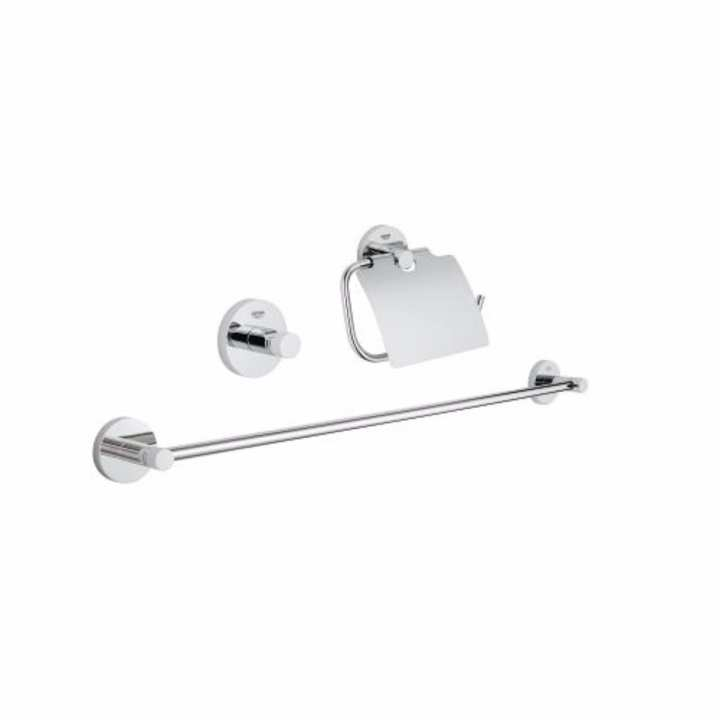 Grohe 40775001 essentials 3 in 1 bathroom accessories set for Bathroom accessories lazada
