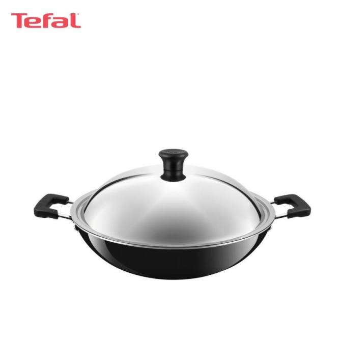 Tefal Asian Chinese Wok 40cm w/Lid - C5289714