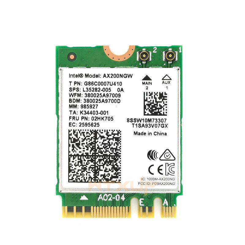AX200NGW for Intel AX200 2400Mbps 802.11ax PCIe 1X wireless network card Bluetooth 5.0 Desktop WLAN adapter MU-MIMO for Win 10 XT Store