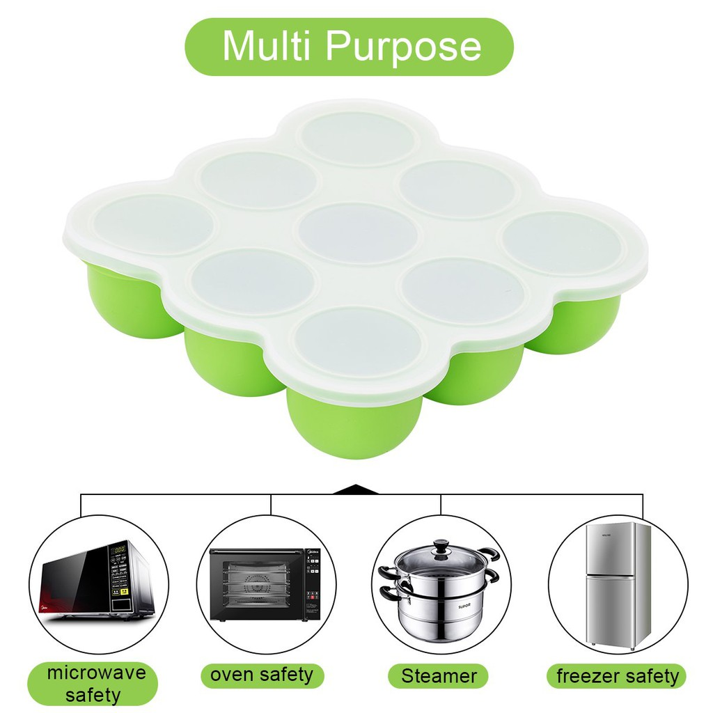 KIDDO FEEDO Multi-portion Freezer Pots for Weaning Premium Silicone Tray...
