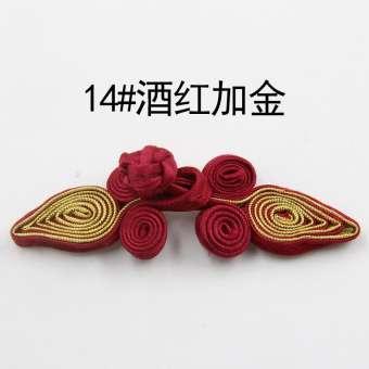 TTT สไตล์จีนทรงดอกไม้แนวจีนลายหัวใจงานฝีมือหัวเข็มขัดกระดุมกี่เพ้าเสื้อหัวเข็มขัด MIMZF ชุดสมัยราชวงศ์ถัง DIY หัวเข็มขัด