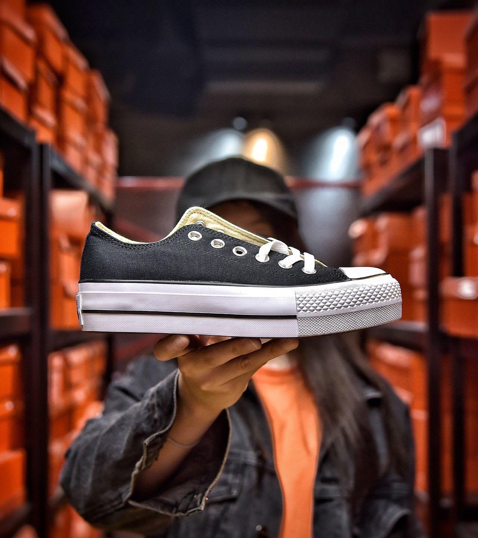 Low Platform Canvas Shoes Women