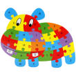 English wooden animal puzzle early childhood cartoon jigsaw puzzle