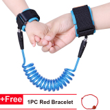 Adjustable Kids Safety Harness Child Wrist Leash Anti-lost Link New Year Gift (1.5 Meter) - intl image on snachetto.com