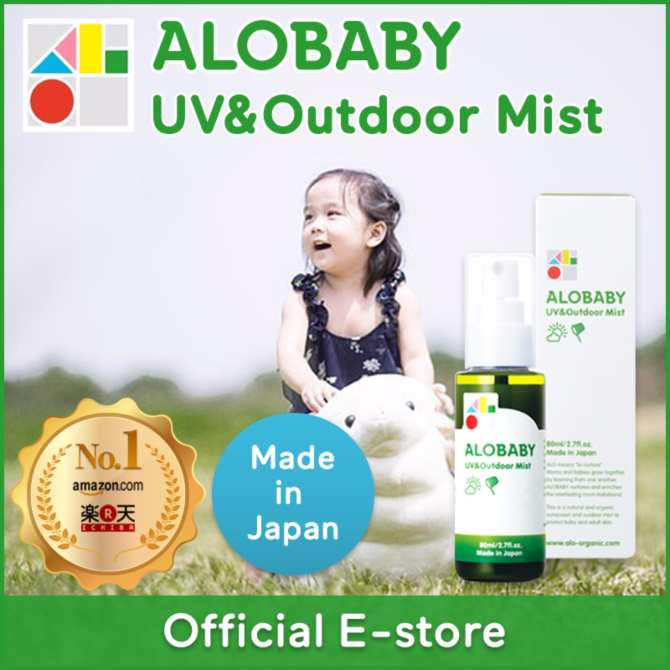 ALOBABY【Official】UV&Outdoor Mist 80ml [Made-in-Japan / Organic /Baby Skincare / Sunscreen / Insect Repellent]