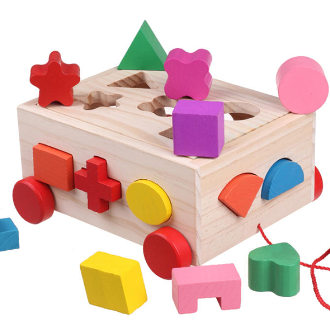 Baby children's early childhood matching building blocks intellectual box