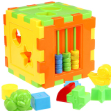 Bluelans® Kid Educational Animal Shape Alphabet Block Cube Toddler Baby Toy image on snachetto.com