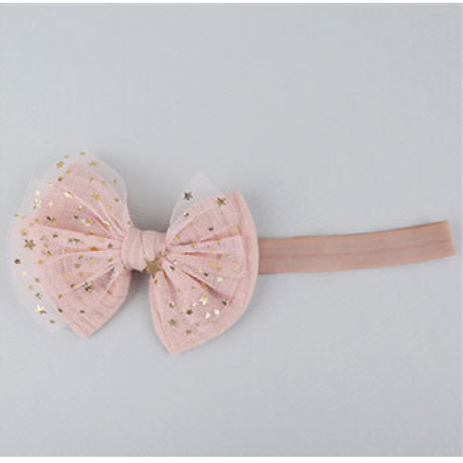 Baby cute mesh infants floral headdress hair bands
