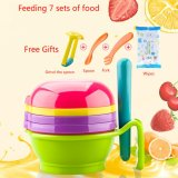 Multi-functional7 in 1 Baby Food Grinder Set Manual Grinder+Filter+Lapping Plate+Bowl+Pestle Vegetables & Fruits Grinding Tools - intl image on snachetto.com
