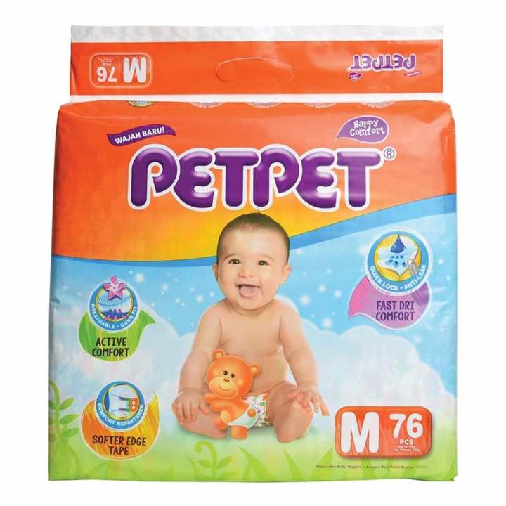 PETPET HALO Mega Pack Baby Diapers M76's x 3 packs ...