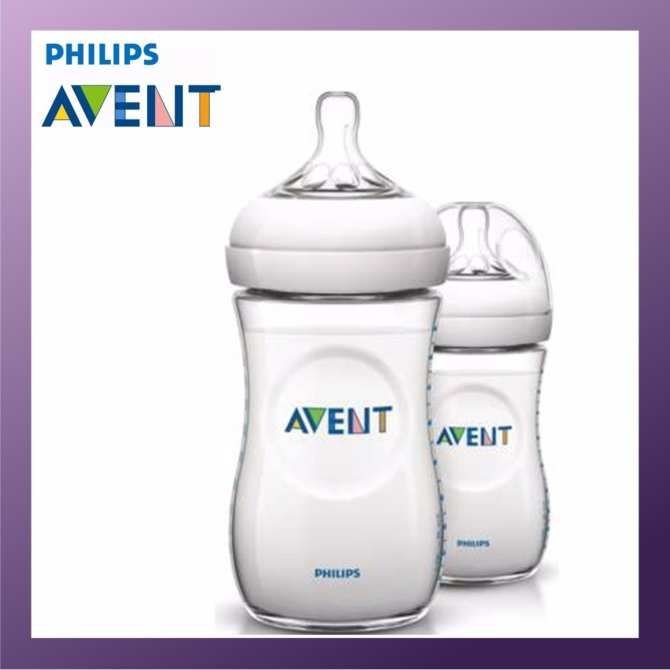 Philips Avent 260ml Natural Bottle (Twin Pack)