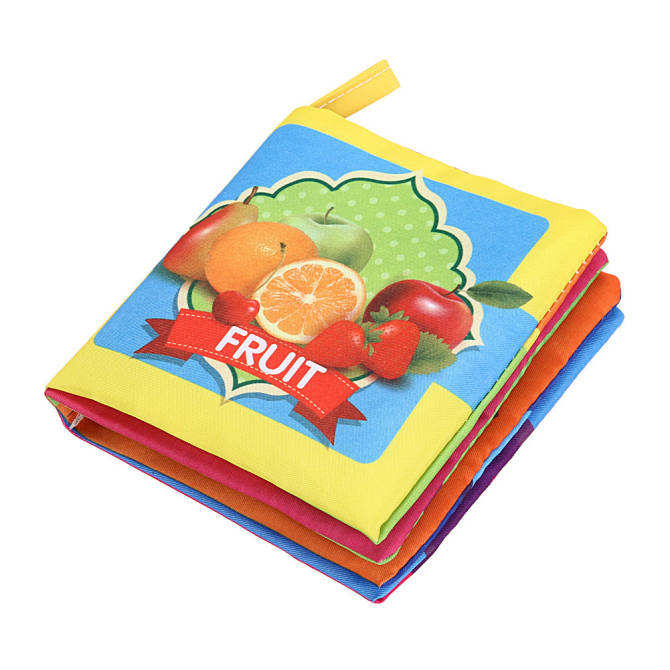 Soft Cloth Child Early Educational Cartoon Book Toys (Fruit) - intl