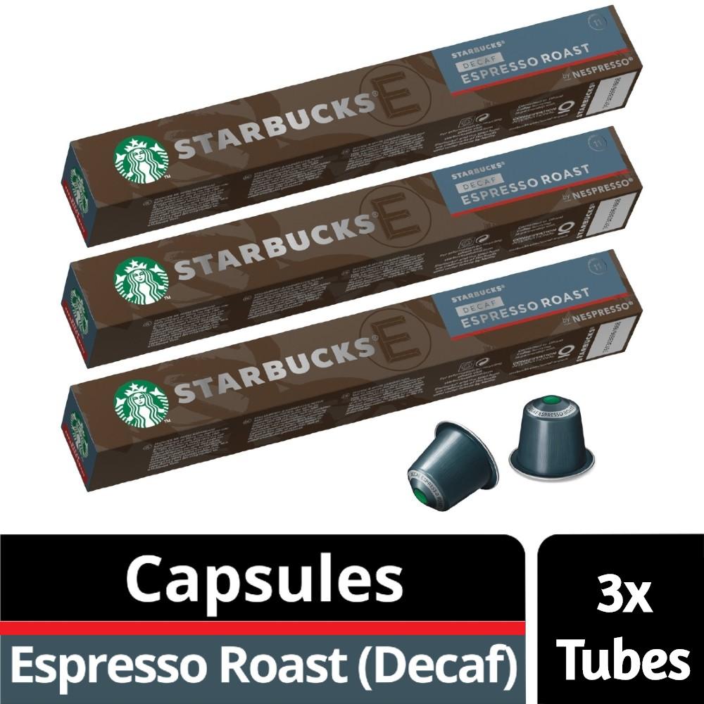 Starbucks Nespresso Coffee Capsules - Decaf Espresso Roast 3 Sleeves (30 pcs)