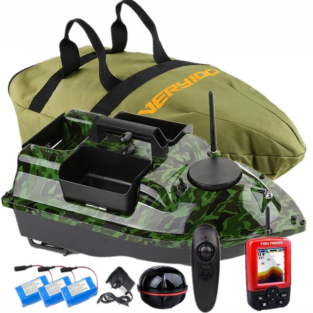 500M Wireless RC Carp Fishing Bait Boat 3 Hoppers,LCD Fishfinder,handbag VERY100
