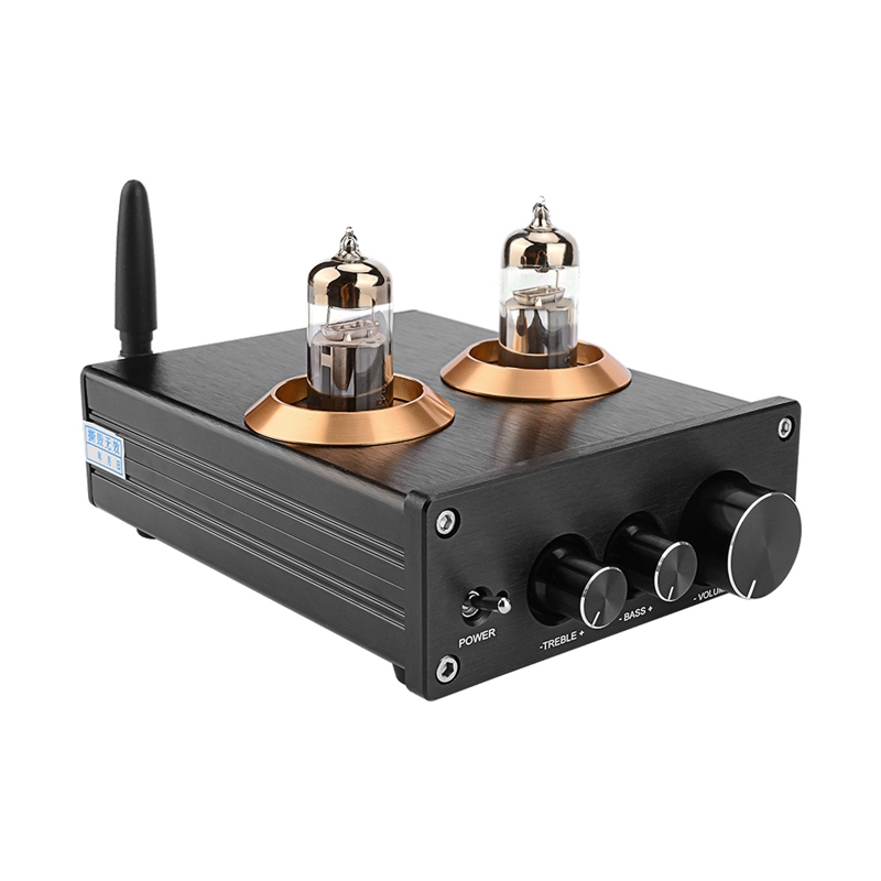 Buffer HiFi 6J5 Bluetooth 4.2 Tube Preamp Amplifier Stereo Preamplifier with Treble Bass Tone Ajustment