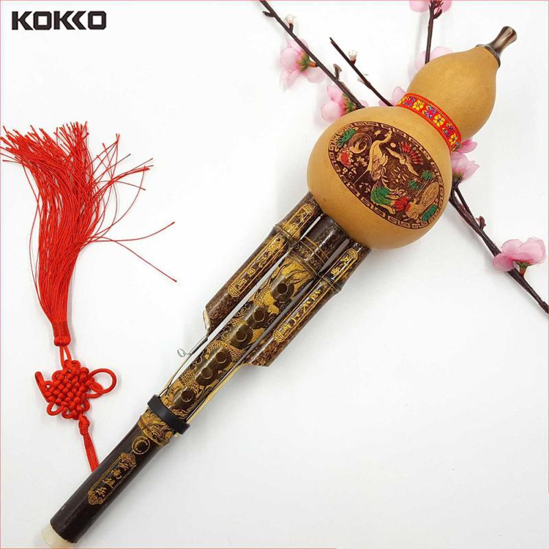 Sáo Bầu Thủ Công Mỹ Nghệ Dân Tộc Hulusi Trung Quốc, Nhạc Cụ Sáo Cucurbit Bb Tom The Novice C Key Quà Tặng Cho Người Yêu Âm Nhạc KOKKO