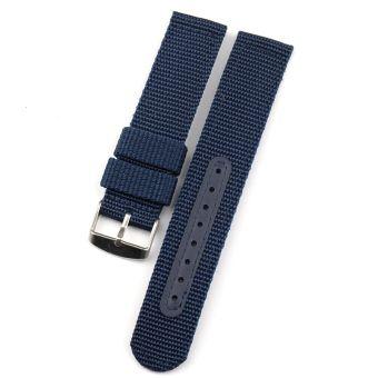 กีฬากลางแจ้งสายทำจากไนล่อนผ้าใบสายนาฬิกาข้อมือ 18 มม./20 มม./22 มม./24mmนาฬิกาเดินป่ารุ่นผู้ชายสายโซ่นาฬิกา