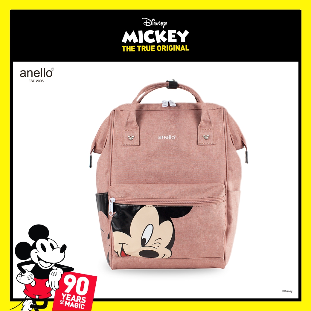 Disney Mickey Backpack Bag Rucksack Anello type bag From Japan F//S
