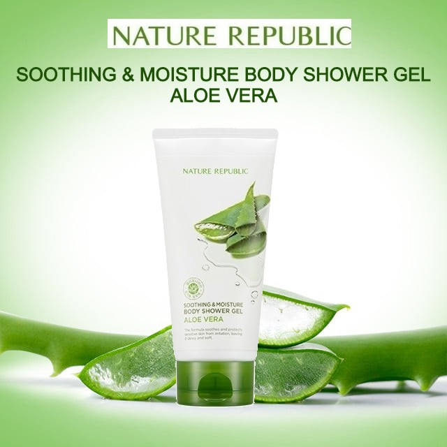 Nature Republic Soothing Moisture Aloe Vera Body Shower Gel Aloe Vera 150ml Sg Stock Fast Delivery Expired On Jan 2022 Lazada Singapore