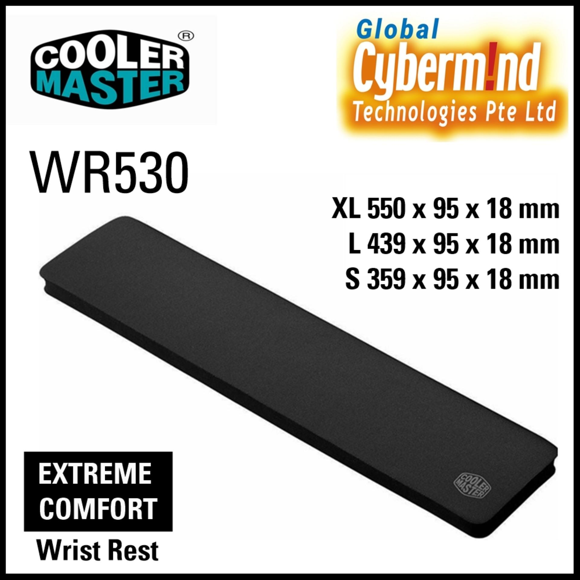 Cooler Master WR530 Wrist Rest Small Black 359 x 95 x 18 mm
