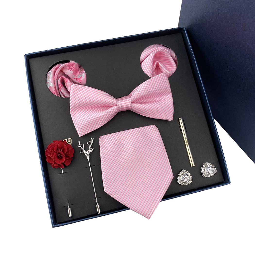 Pink 8 pcs Tie Set