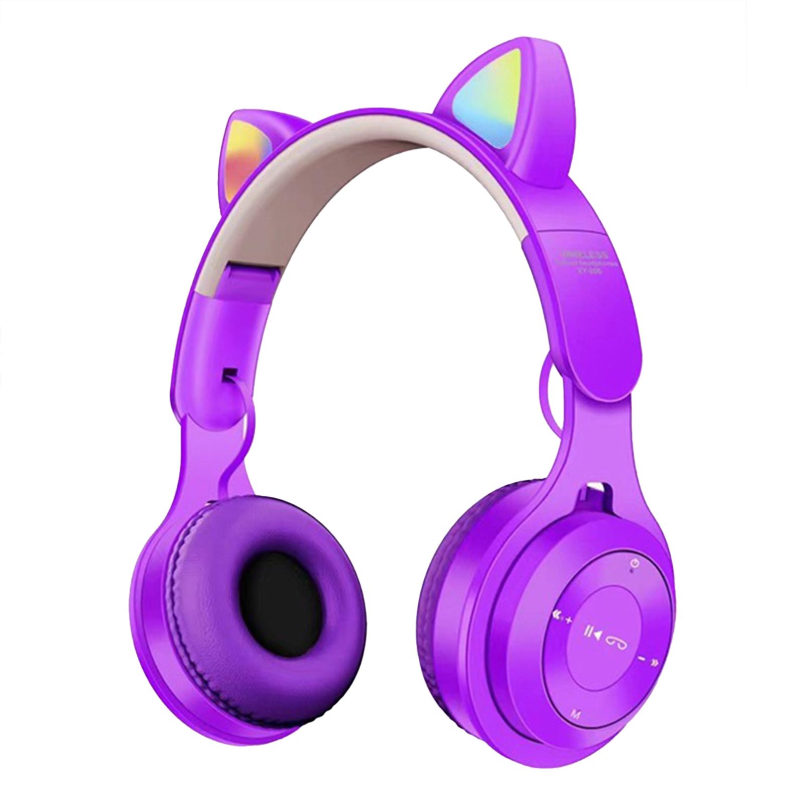 Tai Nghe Bluetooth Sáng Tạo SZC, Tai Nghe Chơi Game Không Dây Dễ Thương Hình Tai Mèo Phát Sáng Bluetooth 5.0 Cho Máy Tính Để Bàn thumbnail