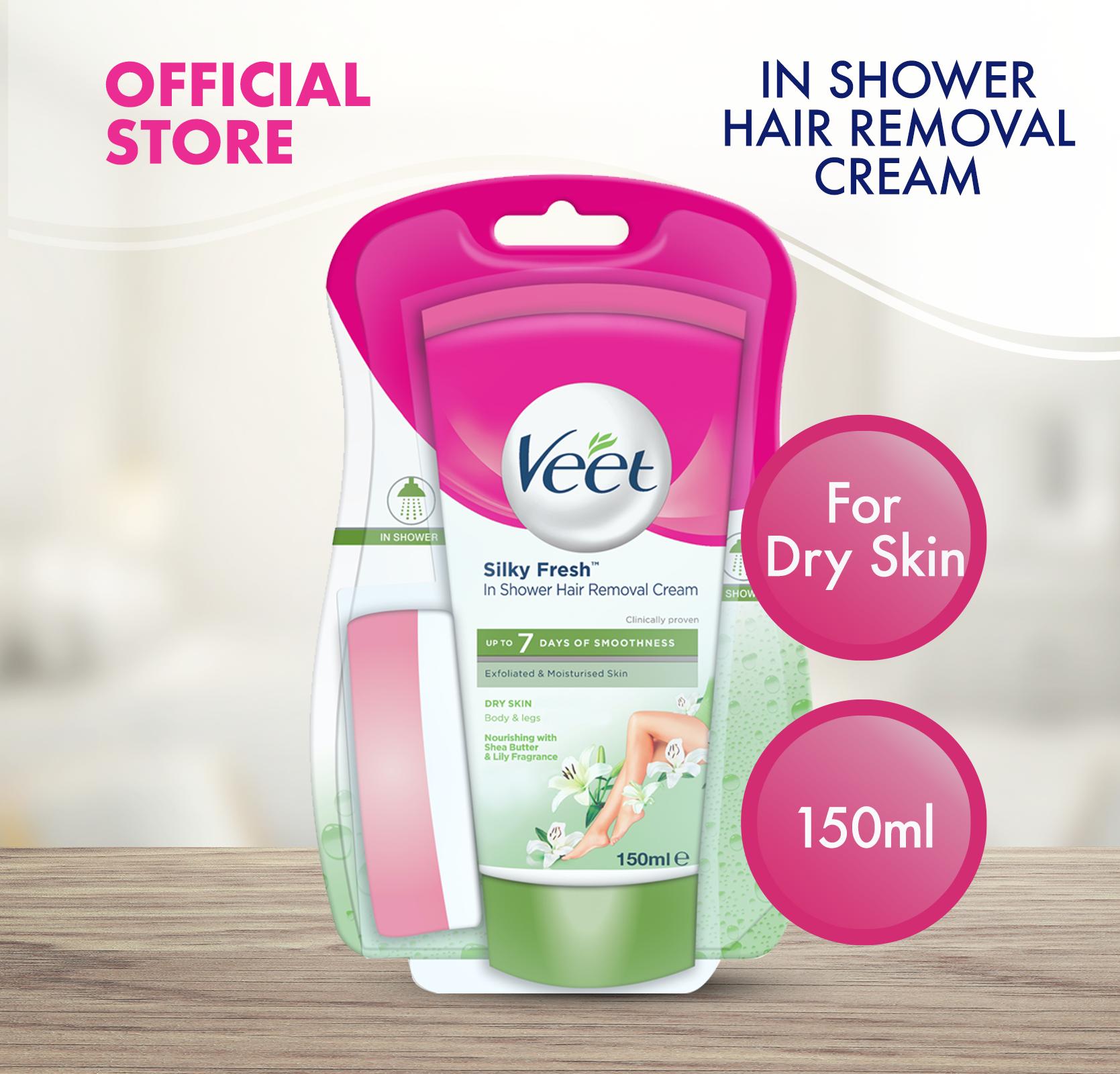 Veet In Shower Hair Removal Cream For Dry Skin 150ml Lazada