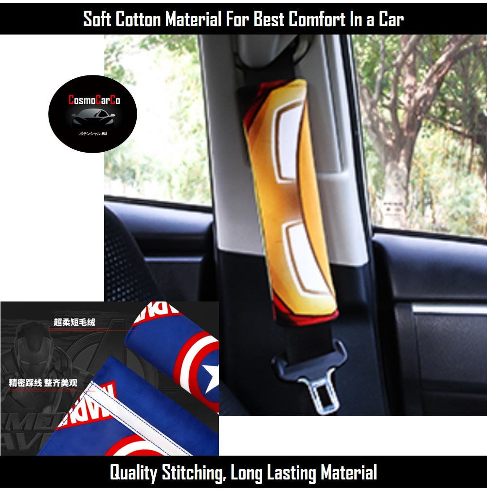 Seat Belt Pads Cover compatible with any cars for Merc Pair