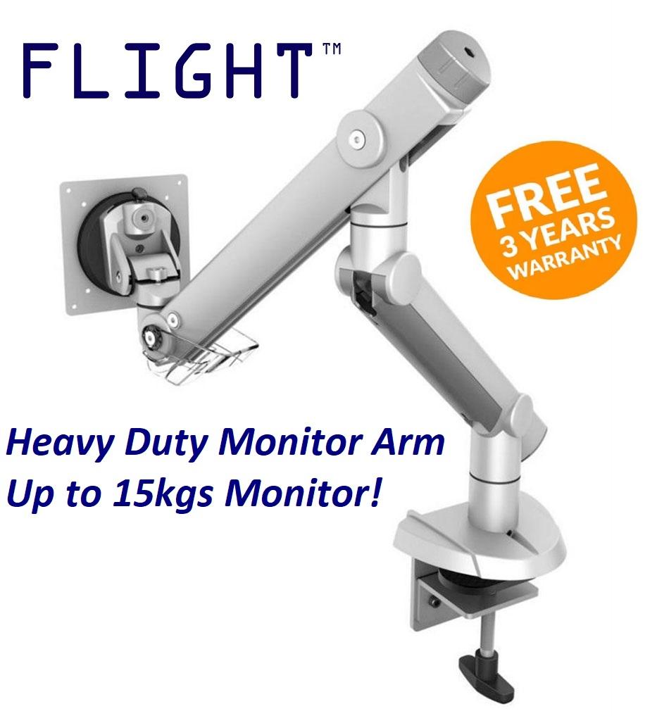 Flight™ Single Dynafly LCD Monitor Arm, Grommet or Clamp, Monitor Weight 2.5 -15kg, Single Monitor Support, 360 Degree Monitor Rotation, International  Vesa Compatibility, Heavy Duty Gaming Monitor Arm, Heavy Duty LCD Arm, Monitor  Stand | Lazada ...