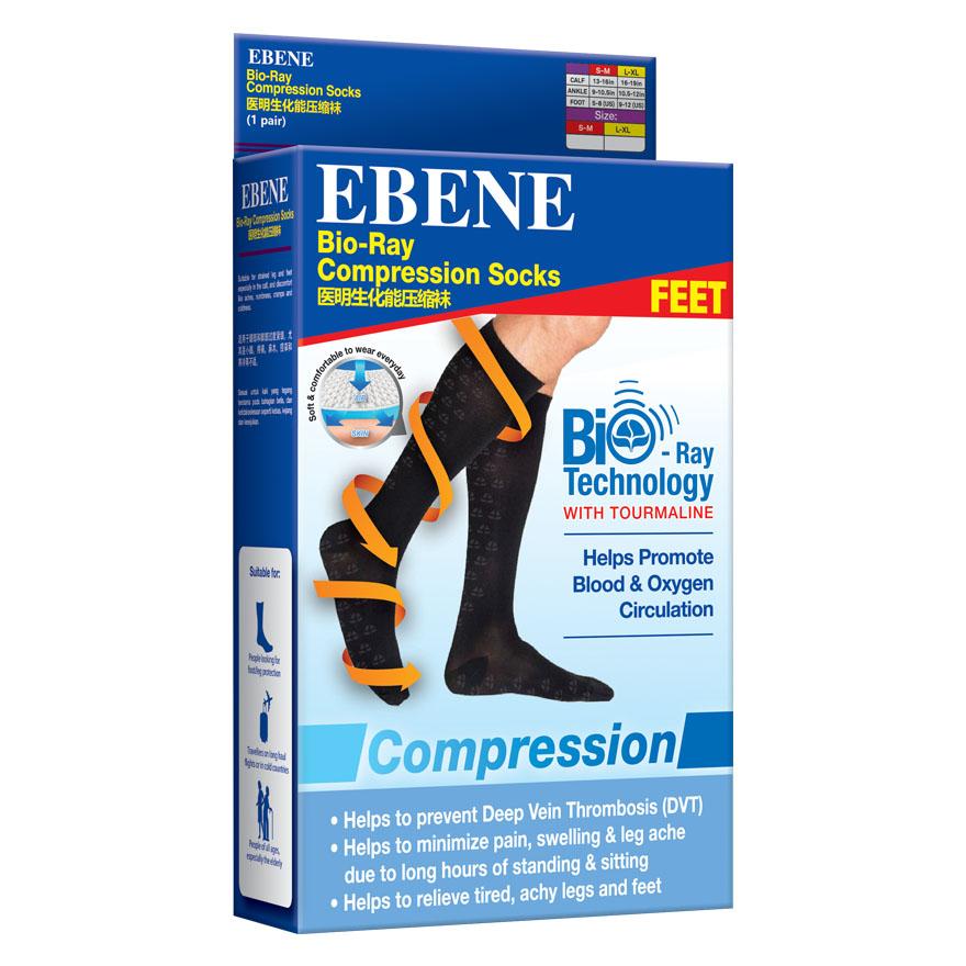 EBENE BIO-RAY COMPRESSION SOCKS SIZE L-XL 1PAIR/BOX | Lazada Singapore