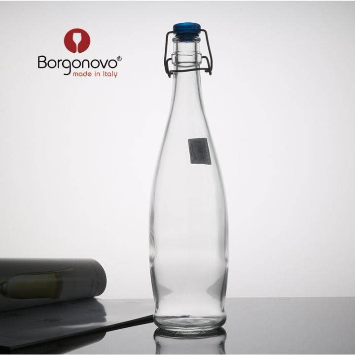 Glass lid bottle sealed bottle