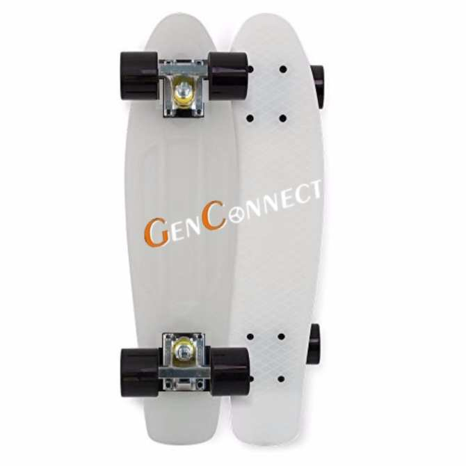 Penny Board Skateboard 22 inch (White with Black wheels)