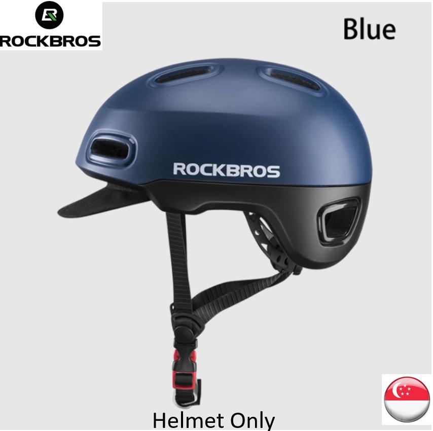 [SG SELLER] RockBros Helmet bicycle helmet cycling helmet helmet with light need buy separately