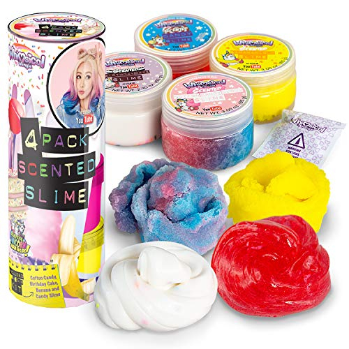 Creative Kids Wengie Whimsical Scented Slime Kit W Mystery Unicorn Charm 4 Pack Glossy Fluffy Puffy Cloud Fruity Slime For Girls Boys Stem Educational Stress Relief Squishy Party Favors