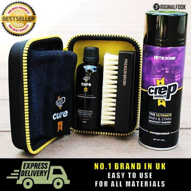 Crep Protect Shoe Repellent Spray + Cleaning Kit Set ...