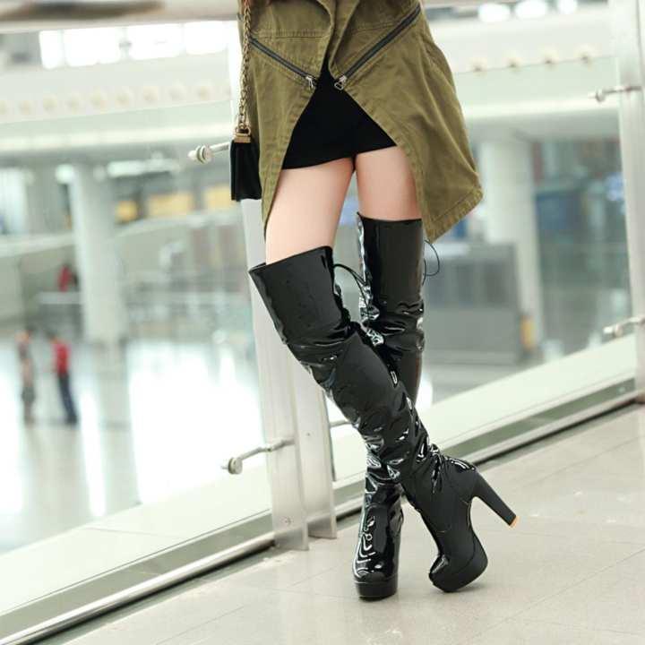 Gentlemen/Ladies - Fashion Women Sexy High Thick Heels Platform Platform Platform Round Toe Riding Boots Women Shoes Woman 34-43 Over The Knee Boots (black) - intl  -  Comfortable and natural b0c6c2