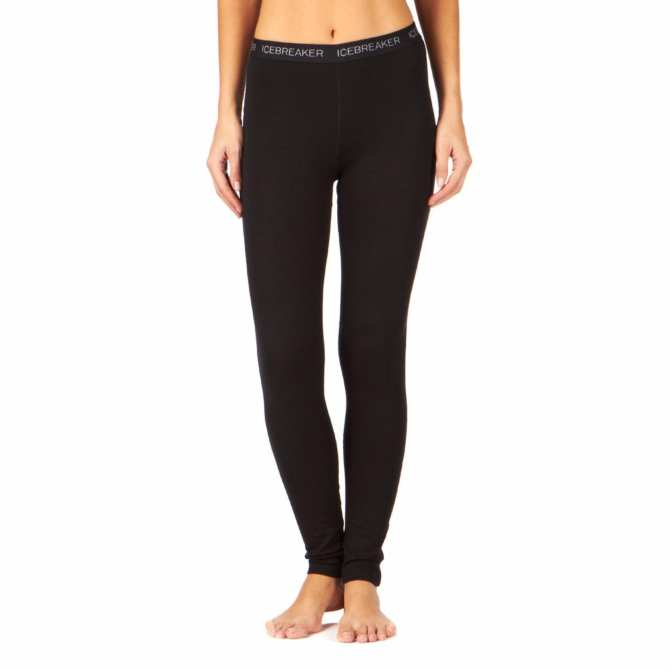 Icebreaker Merino 260 Womens Vertex Leggings Black