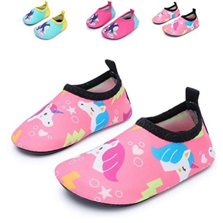JIASUQI Fashion Outdoor Sports Water Aqua Skin Water for Shoes Casual Beach Sandals for Water Baby,Pink/Unicorn 12-18 Months - intl 1bf0c9