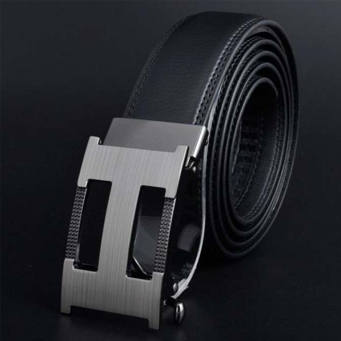 Men Automatic Buckle Leather Belts K95 130cm - intl