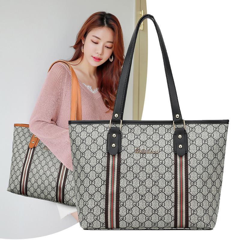 Womens Bag Large Capacity Korean Handbag Fashion Contrast Bag