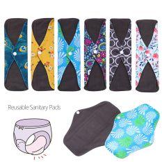 SIKONG Sản phẩm vệ sinh phụ nữ Có thể giặt được Có thể tái sử dụng Chống thấm nước Vệ sinh Lót quần lót Than tre Miếng lót kinh nguyệt